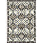 Tierney Blue/Chocolate Indoor/Outdoor Area Rug Rug Size: Rectangle 6'7