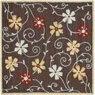 Ross Brown/Multi Area Rug Rug Size: Square 6'