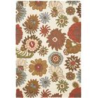 Ross Floral Ivory / Multi Contemporary Rug Rug Size: Rectangle 4' x 6'