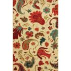 Virginia Beige/Red Area Rug Rug Size: Rectangle 5' x 8'