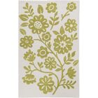 Church Hand-Hooked Green/Neutral Area Rug Rug Size: Rectangle 3' x 5'