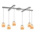 Cantrell 6-Light Satin/Nickel Frosted Cluster Pendant