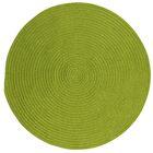 Mcintyre Bright Green Indoor/Outdoor Area Rug Rug Size: Round 4'