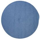 Mcintyre Blue Ice Outdoor Area Rug Rug Size: Round 6'