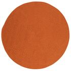 Mcintyre Rust Outdoor Area Rug Rug Size: Round 8'