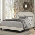 Greensburg Upholstered Panel Bed Size: Queen, Color: Glacier Gray