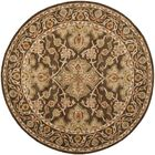 Albertine Brown Area Rug Rug Size: Round 6'