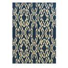 Savanah Hand-Tufted Blue/Ivory Outdoor Area Rug Rug Size: Rectangle 5' x 7'