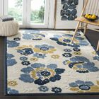 Ennis Ivory/Blue Indoor/Outdoor Area Rug Rug Size: Rectangle 9' x 12'