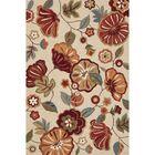 Kaela Polyester Hand Tufted Ivory/Red Area Rug Rug Size: 5' x 7'6