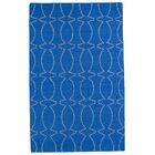 Gillespie Handmade Blue Geometric Area Rug Rug Size: Rectangle 8' x 10'