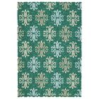 Stepanie Emerald Indoor/Outdoor Area Rug Rug Size: Rectangle 8' x 10'
