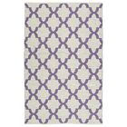 Tyesha White/Lilac Indoor/Outdoor Area Rug Rug Size: Rectangle 8' x 10'