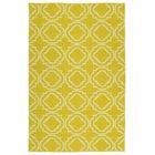 Tyesha Yellow & Cream Indoor/Outdoor Area Rug Rug Size: Rectangle 8' x 10'
