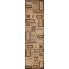 Sherill Brown Synthetic Area Rug Rug Size: Runner 2'3