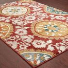 Herring Red/Gold Area Rug Rug Size: Rectangle 3'10