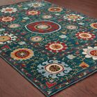 Herring Blue/Red Area Rug Rug Size: Rectangle 5'3