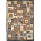 Owensville Abstract Squares Hand-Woven Brown Area Rug Rug Size: Rectangle 9'6