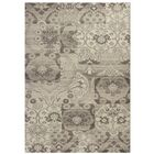 Galvan Black & Gray Brocade Area Rug Rug Size: 7'10