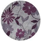 Bradshaw Gray/Plum Elegance Area Rug Rug Size: Rectangle 3'3