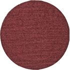 Richardson Hand-Loomed Red Area Rug Rug Size: Round 8'