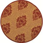 Short Simple Outdoor Rug Rug Size: Round 5'3