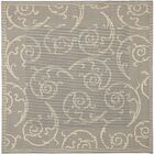 Alberty Grey / Natural Indoor/Outdoor Rug Rug Size: Square 7'10