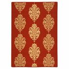 Short Red/Natural Outdoor Rug Rug Size: Rectangle 6'7