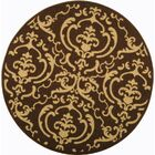Short Chocolate/Natural Outdoor Rug Rug Size: Round 7'10