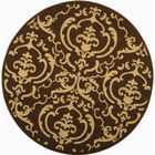 Short Chocolate/Natural Outdoor Rug Rug Size: Round 6'7