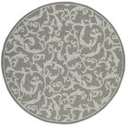 Gulf Anthracite Light Grey Indoor/Outdoor Area Rug Rug Size: Round 6'7