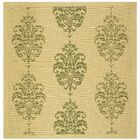 Short Natural / Olive Outdoor Area Rug Rug Size: Square 7'10