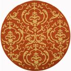 Short Terracotta / Natural Outdoor Rug Rug Size: Round 6'7