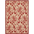 Short Red / Creme Outdoor Area Rug Rug Size: Rectangle 6'7