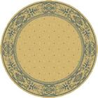 Short Natural / Blue Transitional Outdoor Area Rug Rug Size: Round 5'3