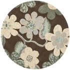 Mccullough Brown Area Rug Rug Size: Round 5'