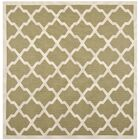 Short Green/Beige Outdoor Loomed Area Rug Rug Size: Square 7'10
