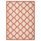 Short Beige/Terracotta Indoor/Outdoor Area Rug Rug Size: Rectangle 8' x 11'