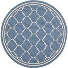 Short Blue Indoor/Outdoor Area Rug Rug Size: Round 6'7
