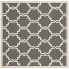 Short Anthracite/Beige Geometric Contemporary Rug Rug Size: Square 6'7