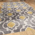 Melrose Gray/Yellow Area Rug Rug Size: Rectangle 9' x 12'