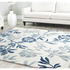 Trudie Hand-Woven Wool Ivory/Blue Area Rug Rug Size: Rectangle 4' x 6'
