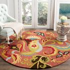Ross Beige/Red Area Rug Rug Size: Square 8'