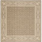 Short Brown Outdoor Area Rug Rug Size: Square 6'7