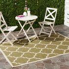 Short Green/Beige Indoor/Outdoor Area Rug Rug Size: Rectangle 6'7