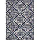 Anzell Blue/Gray Area Rug Rug Size: 7'10