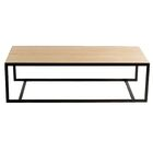 Ansted Coffee Table Base Color: Oil Rubbed Bronze, Top Color: Cherry