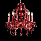Coral 5-Light Crystal Chandelier Color: Red