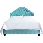 Sheila Upholstered Platform Bed Size: California King, Color: Turquoise