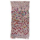 Boucherouite Azilal Hand-Woven Pink/Red Area Rug